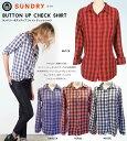 ポイント10倍 \税込、送料無料で7,000円ポッキリセール/SUNDRY サンドリー チェック シャツ ギンガムチェック Sundry Button Up Shirt 【正規品】 WVF1A-S14