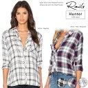 Rails レイルズ ダニエル ボタンダウン レディース チェックシャツ 長袖 Danielle check 100% US Rayon shirts 3色【正規品】【送料無…