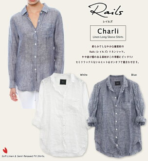 Rails Rails shirt women's long sleeve Charli linens shirt Linen Shirt RW45766