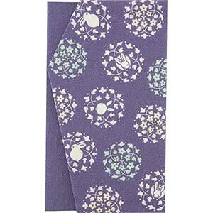 くろちく よそおい袱紗 ふくさ 狂言兎 ウサギ 紫 パープル 和柄