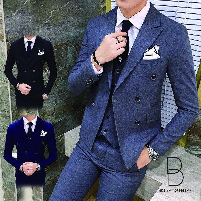 メンズスーツ スリム セットアップ 上下 ビジネススーツ ベスト パンツ 紳士服 リクルート 新社会人 メンズ 結婚式 二次会 入学式 卒業式 【ラッキーシール対応】