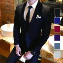 メンズ スリーピーススーツ スタイリッシュスーツ メンズスーツ 3点セット シングル 1つボタン メンズスーツ スリム …