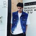 韓国 ファッション メンズ モード系 メンズ ゆったり 韓流 ビッグシルエット 原宿系 韓国系メンズ ノースリーブ ジェ…