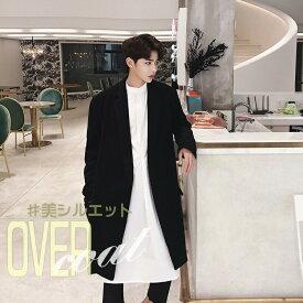 c8470b8995f モード系 オーバーコート チェスターコート 韓国 ファッション メンズ 韓国ファッション サロン系 コート ジャケット メンズ