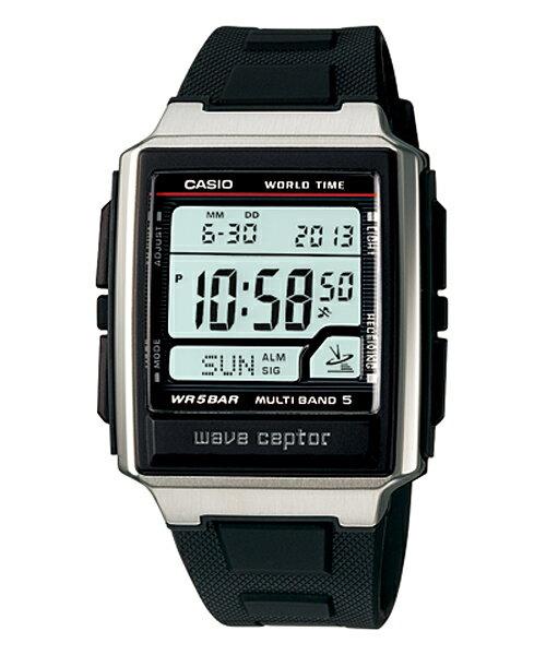 国内正規品 CASIO カシオ WAVE CEPTOR ウェーブセプター 電波時計 メンズ腕時計 WV-59J-1AJF