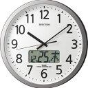 RHYTHM リズム時計 クロック 電波掛け時計 温湿度表示付 プログラムカレンダー405SR 4FN405SR19