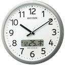 RHYTHM リズム時計 クロック 電波掛け時計 プログラムカレンダー01SR 4FNA01SR19