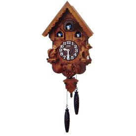 RHYTHM リズム時計 クロック 掛け時計 鳩時計 カッコークロック カッコーパンキーR 4MJ221RH06 (4MJ221-C06の新モデル)