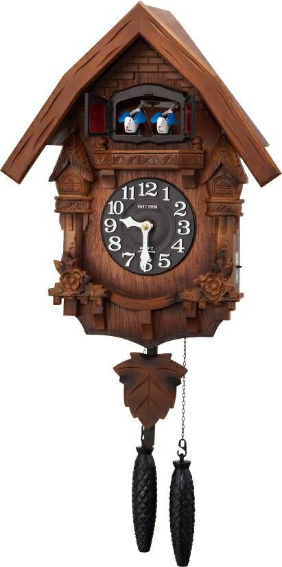 RHYTHM リズム時計 クロック 掛け時計 鳩時計 カッコークロック カッコーテレスR 4MJ236RH06 (4MJ236-A06の新モデル)
