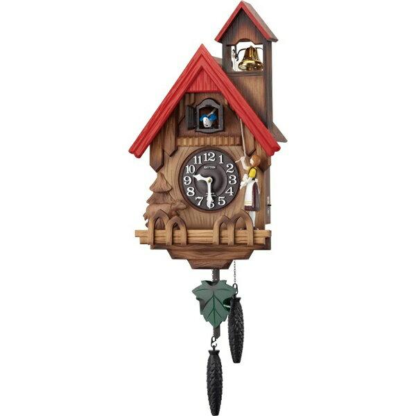 RHYTHM リズム時計 クロック 掛け時計 鳩時計 カッコークロック カッコーチロリアンR 4MJ732RH06 (4MJ732-N06の新モデル)