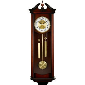 RHYTHM リズム時計 クロック 振り子時計 掛け時計 棒りん打ち 木地 茶 4MJ742RH06