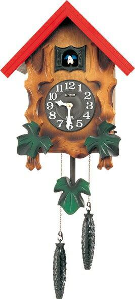 RHYTHM リズム時計 クロック 掛け時計 鳩時計 カッコークロック カッコーメルビルR 4MJ775RH06 (4MJ775-A06の新モデル)