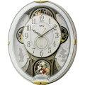 RHYTHMリズム時計クロックDisneyディズニー電波掛け時計からくり時計メロディ付ミッキー&フレンズM5094MN509MC03