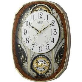 RHYTHM リズム時計 クロック 電波掛け時計 からくり時計 メロディ付 4MN513RH23