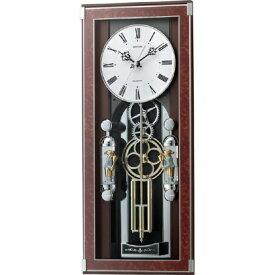 RHYTHM リズム時計 クロック 電波掛け時計 振り子時計 からくり時計 メロディ付 ソフィアーレプリモ 4MN535SR23