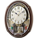 RHYTHM リズム時計 クロック 電波掛け時計 からくり時計 スモールワールドアルディ 4MN545RH23