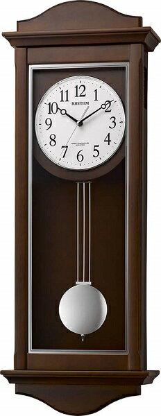 RHYTHMリズム時計クロックシューマスR電波掛け時計木製振り子時計4MN552SR06