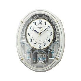 RHYTHM リズム時計 クロック スモールワールドアルディN 電波掛け時計 4MN553RH03