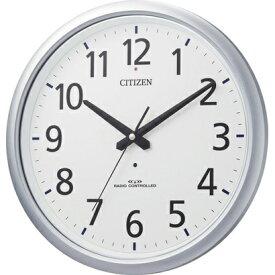 CITIZEN シチズン リズム時計 クロック 電波掛け時計 防水 スペイシーアクア493 8MY493-019