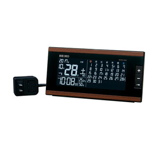 SEIKOセイコークロック交流式デジタル(マンスリーカレンダー)目覚まし時計電波置き時計DL212B