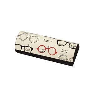 Pearl パール メガネケース マグネット式セミハード クロス付 スヌーピー P-094026