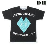 DEADHEARTNYCデッドハートエヌワイシーTシャツCLASSICSクラシックT-SHIRTS(ブラック×アクア)