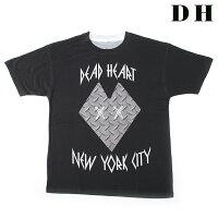 DEADHEARTNYCデッドハートエヌワイシーTシャツCLASSICSクラシックT-SHIRTS(ブラック×グレー)