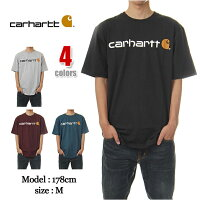 CARHARTTカーハートTシャツメンズ大きいサイズLOGOUSAモデル(4色)