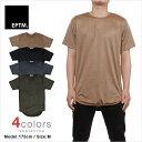 送料無料 ロング丈 Tシャツ EPTM スウェード エピトミ 半袖Tシャツ メンズ LAブランド 大きいサイズ eptm 無地 プレーン スエード