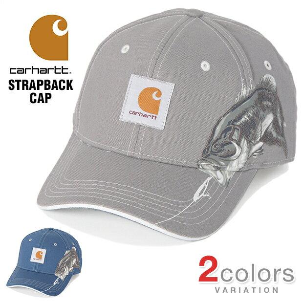 カーハート キャップ ローキャップ CARHARTT メンズ レディース 帽子 ストラップバック STRAPBACK ブラックバス バスフィッシング