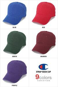 チャンピオンキャップローキャップデニムメンズレディースCHAMPION帽子ロークラウンLOWCAPGOLFゴルフストラップバックSTRAPBACKWASHEDDADあす楽