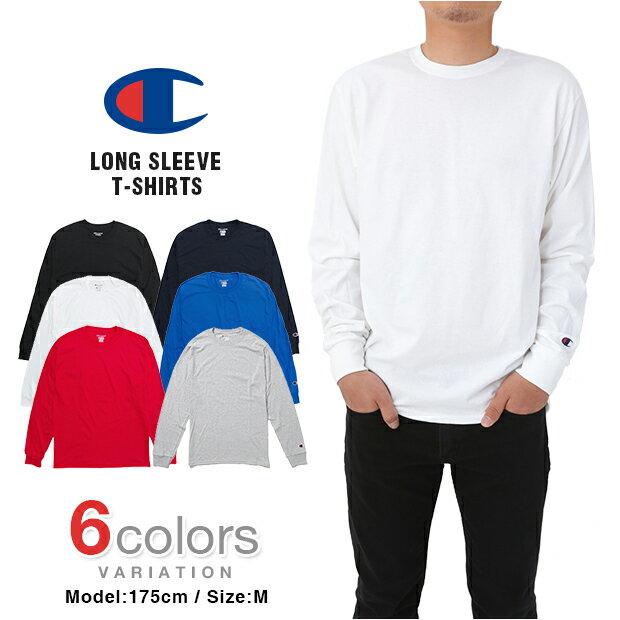 チャンピオン 長袖Tシャツ Tシャツ CHAMPION T-SHIRTS メンズ 大きいサイズ USAモデル 無地 ワンポイント ロゴ ロンT レディース メール便あす楽対応