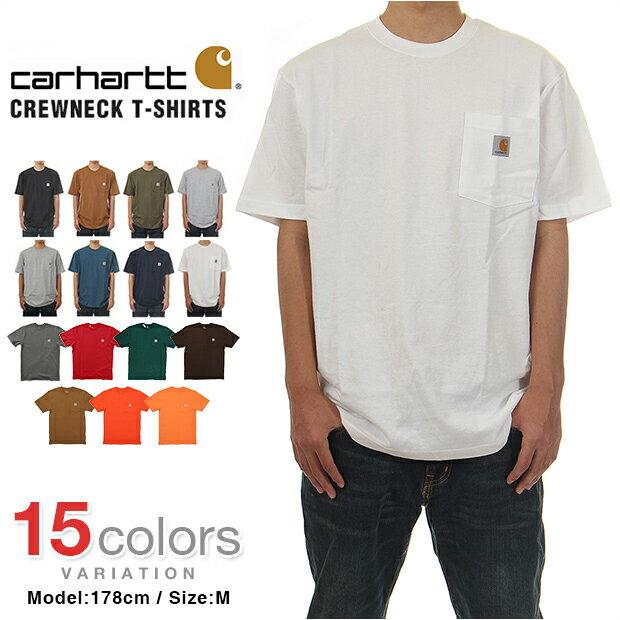 【メール便送料180円】 カーハート Tシャツ CARHARTT T-SHIRTS USAモデル メンズ 大きいサイズ ポケット Tシャツ ロゴ 半袖 USA あす楽対応