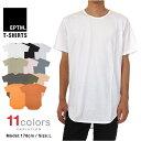 ロング丈 Tシャツ メンズ EPTM ロング丈Tシャツ エピトミ 半袖Tシャツ LAブランド 大きいサイズ eptm 無地 プレーン