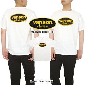 【2枚までメール便送料200円】バンソン Tシャツ VANSON CONPETITION メンズ 大きいサイズ ロゴ