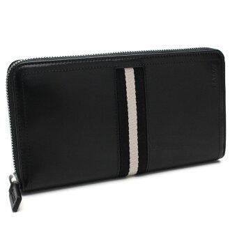 배리(BALLY) 라운드 패스너장 지갑 TALEN 290 BLACK 블랙