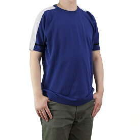 バーク Bark メンズ 半袖 サマー セーター 71B6002 253 BLUE ブルー系【キャッシュレス 5% 還元】
