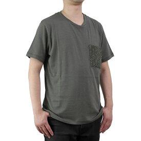 バーク Bark メンズ 半袖 Tシャツ 71B8703 272 KHAKI メンズ ティーシャツ【キャッシュレス 5% 還元】