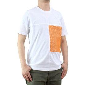 バーク Bark メンズ クルーネック 半袖 Tシャツ 71B8706 258 ORANGE ホワイト系/オレンジ系 メンズ ティーシャツ【キャッシュレス 5% 還元】