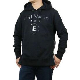 バルマン BALMAIN パーカー フーディ 長袖 プルオーバー UH13391 I382 EAP BLACK+LAMINATED ブラック メンズ bos-02 apparel-01