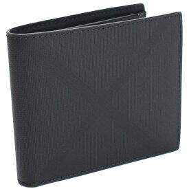 バーバリー BURBERRY ロンドンチェック チェック柄 2つ折り財布 8014484 A5656 DARK CHARCOAL グレー系 men's メンズ ブランド財布 新品 gsm-2