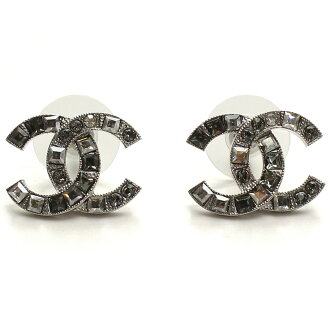 Chanel earrings A88375 silver and zirconia silver system, clear( taxfree/send by EMS/authentic/A brand new item )