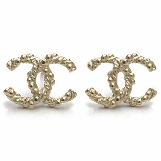 Chanel (CHANEL) here mark pierced earrings A95900 gold system