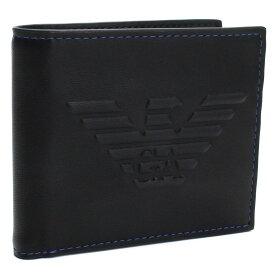 エンポリオ・アルマーニ EMPORIO ARMANI 2つ折り財布 Y4R167 YG90J 81072 BLACK ブラック メンズ 最安挑戦中