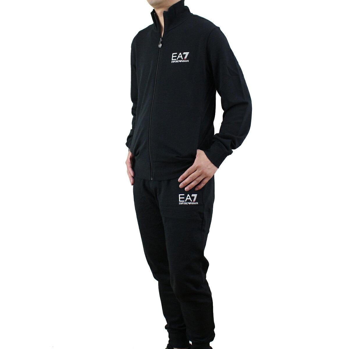 イーエーセブン EA7 メンズ トラックジャケット セットアップ 3YPV54 PJ05Z 1200 BLACK ブラック エンポリオ アルマーニ スポーツライン 【メンズ】