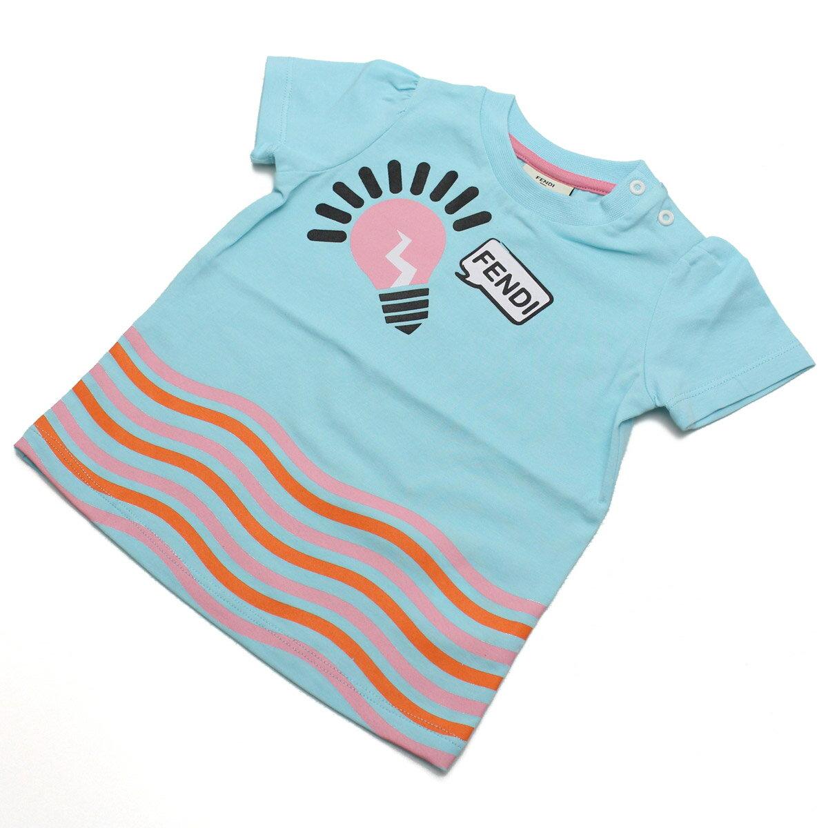 フェンディ (FENDI) ベビーTシャツ ベビー服 BFI032 ST8 F0QF4 ブルー系【キッズ・ベビー】【女の子】