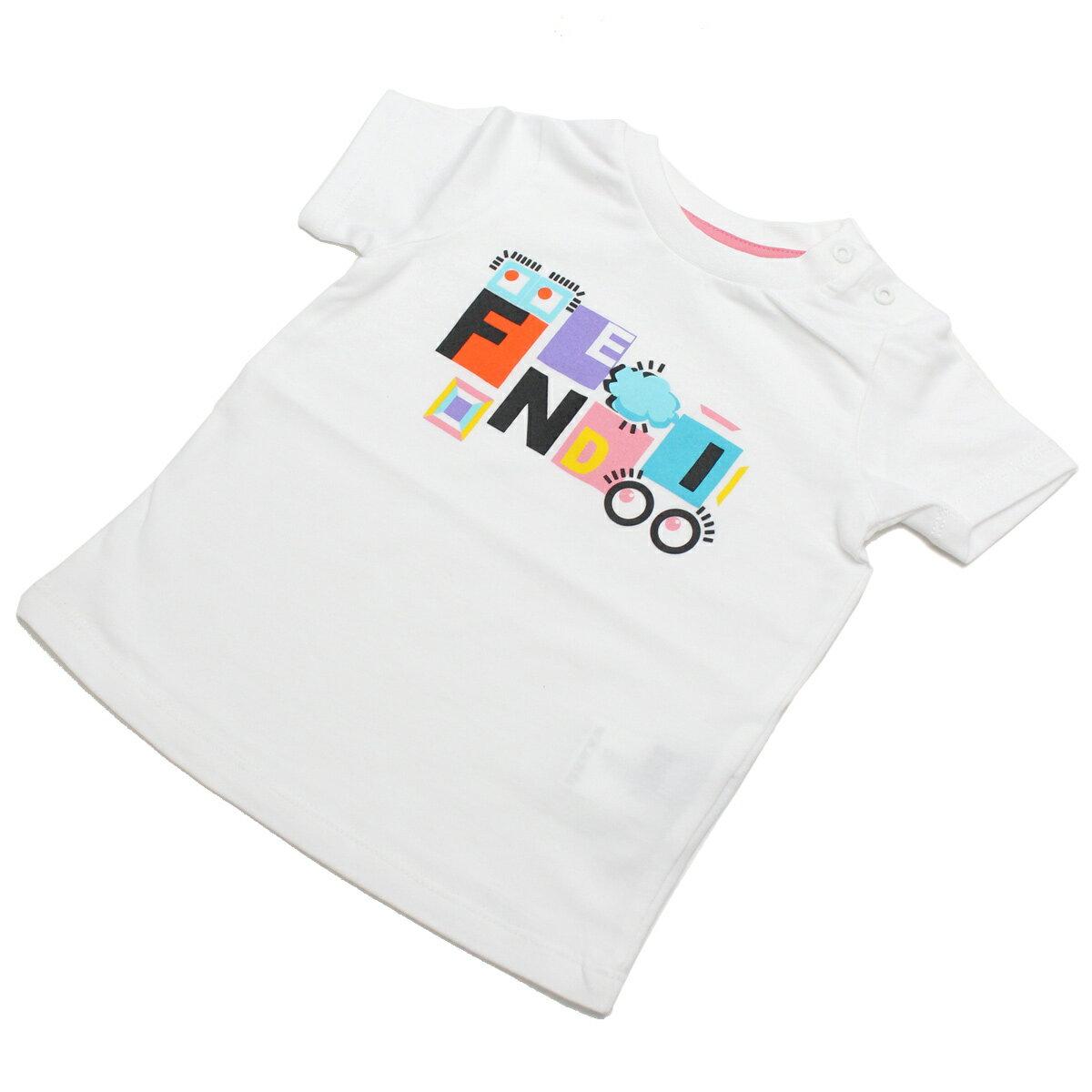 フェンディ (FENDI) ベビーTシャツ BFI033 ST8 F0QA0 ホワイト系 ベビー服【キッズ・ベビー】【女の子】