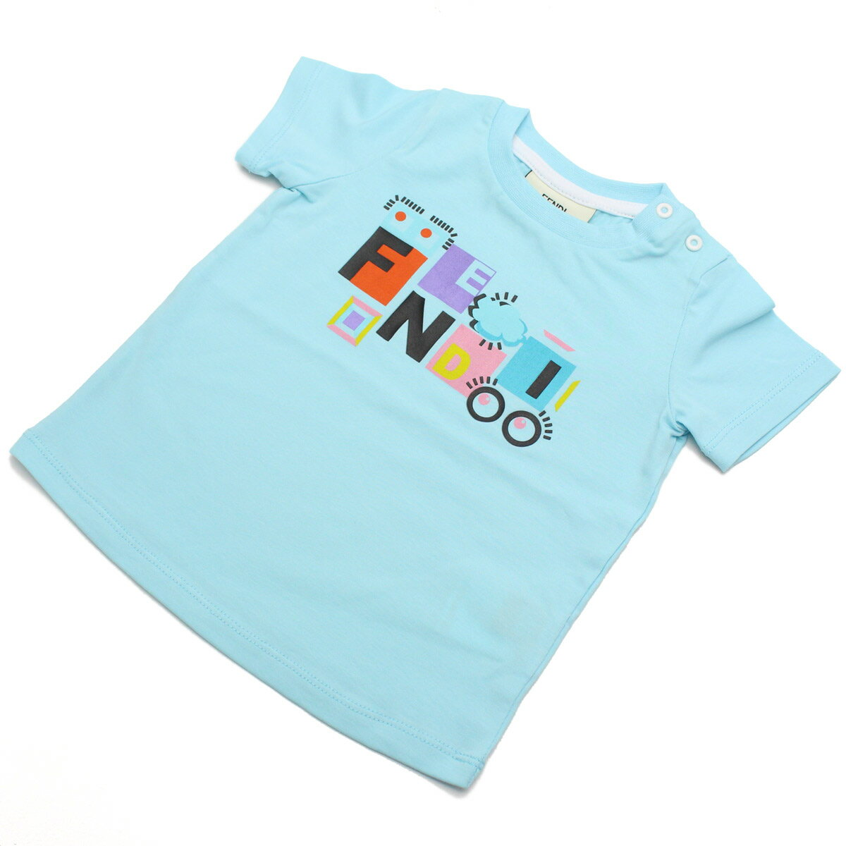 フェンディ (FENDI) ベビーTシャツ BFI033 ST8 F0QF4 ブルー系 ベビー服【キッズ・ベビー】【男の子】