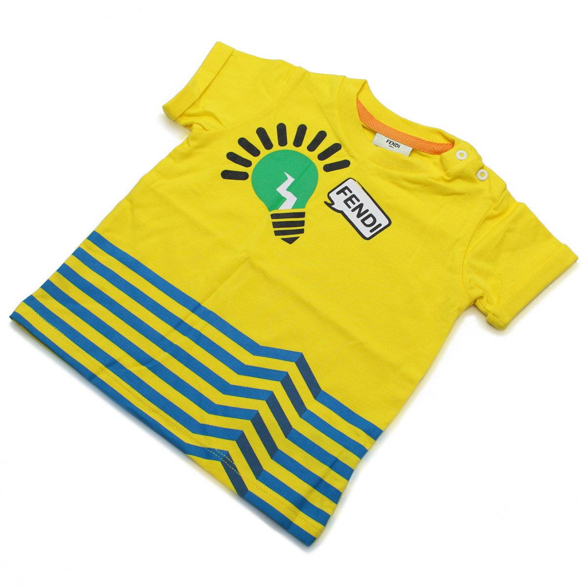 フェンディ (FENDI) ベビーTシャツ ベビー服 BMI060 ST8 F0QF1 イエロー系【キッズ・ベビー】【男の子】