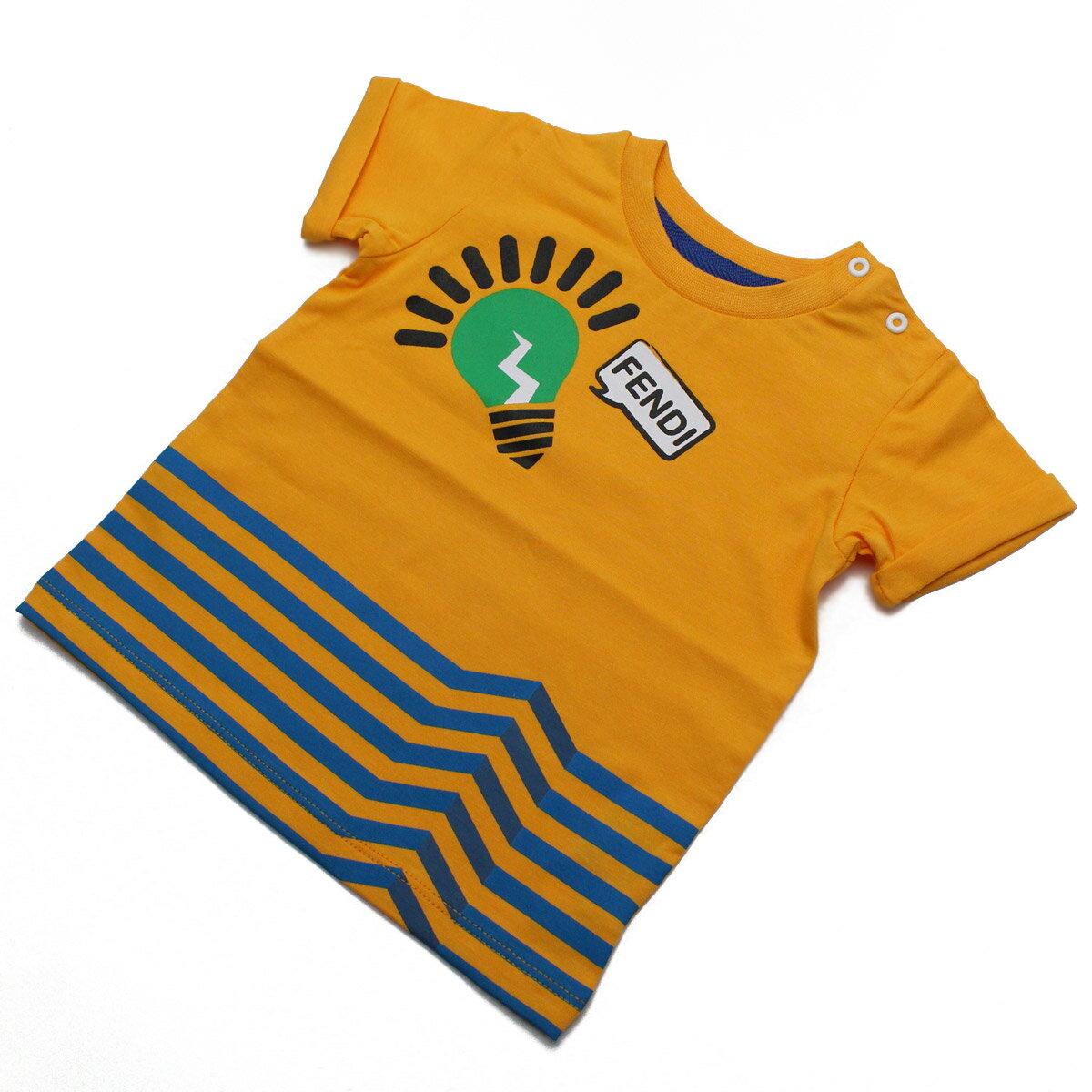 フェンディ (FENDI) ベビーTシャツ ベビー服 BMI060 ST8 F0EU5 オレンジ系【キッズ・ベビー】【男の子】